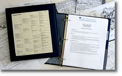 Professional genealogist research project